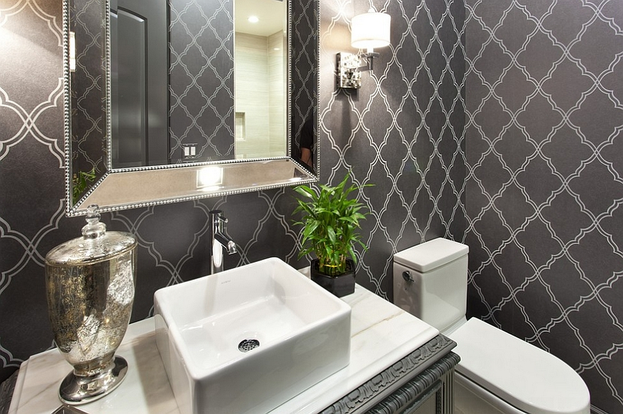 Smart Wallpaper Gives The Powder Room A Timeless Look Pam